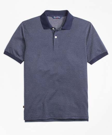 Boys Cotton Bird's-Eye Polo Shirt