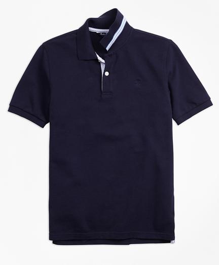 Boys Short-Sleeve Cotton Pique Polo Shirt