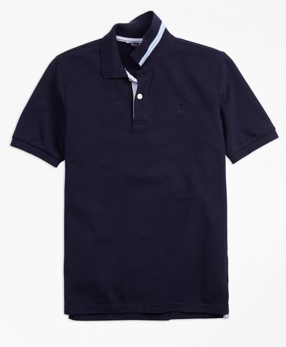 Boys Short-Sleeve Cotton Pique Polo Shirt Navy