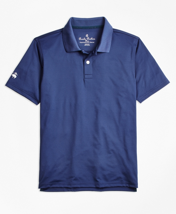 Boys Solid Performance Polo Shirt Dark Blue