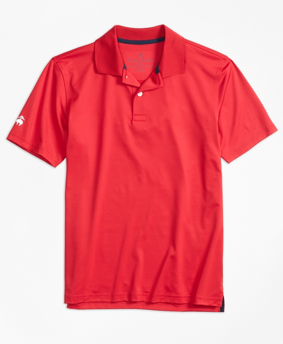 Boys Solid Performance Polo Shirt Red