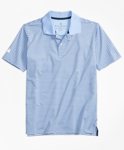 Boys Stripe Performance Series Polo Shirt