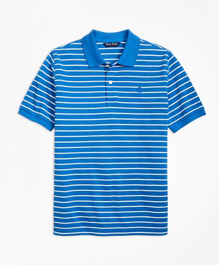 Boys Short-Sleeve Thin Stripe Pique Polo Shirt