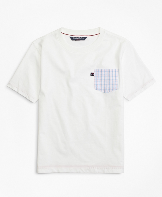 Boys Cotton Blend T-Shirt White