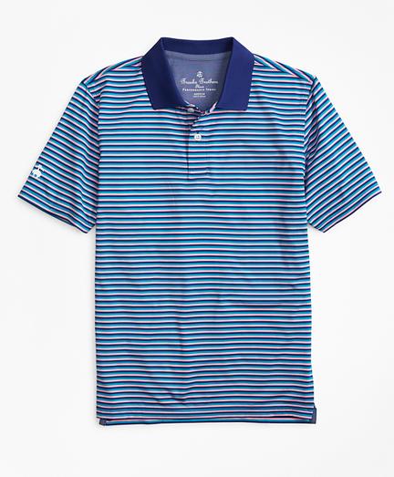 Boys Performance Feeder Stripe Polo Shirt