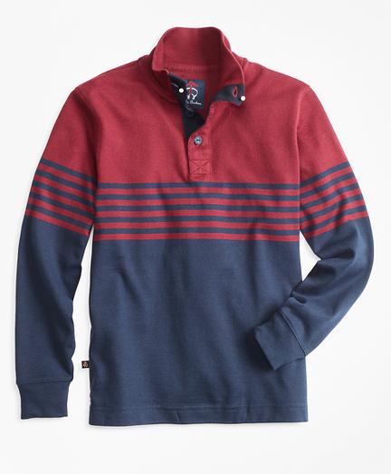 Boys Mockneck Rugby Shirt