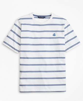 Boys Cotton Short-Sleeve Stripe T-Shirt