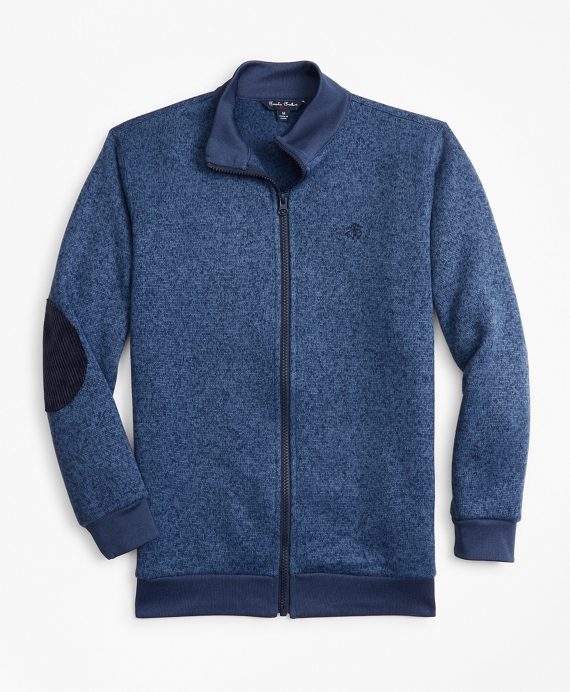 Boys Full-Zip Fleece Knit Blue