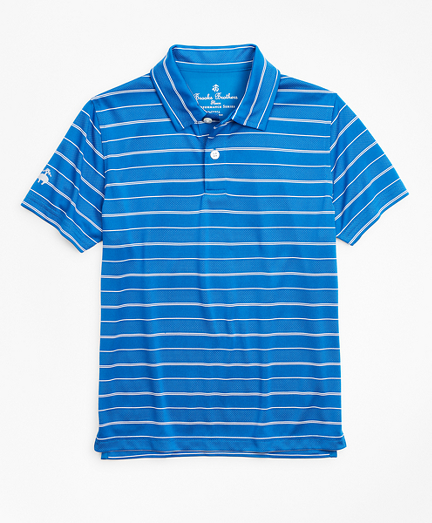 Boys Performance Stripe Polo Shirt