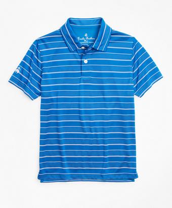 Boys Performance Series Stripe Polo Shirt