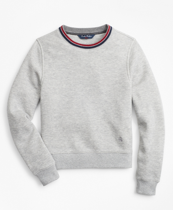Boys Cotton-Blend Sweatshirt Grey