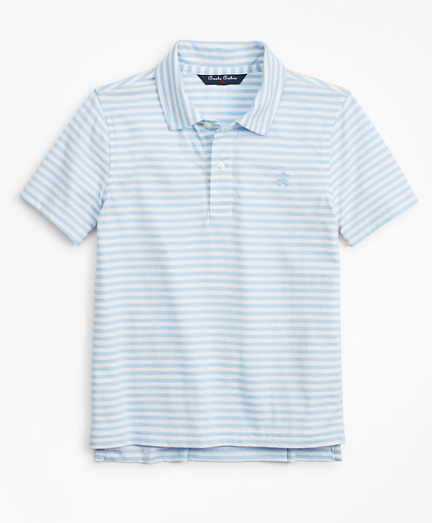 Boys Stripe Cotton Jersey Polo Shirt
