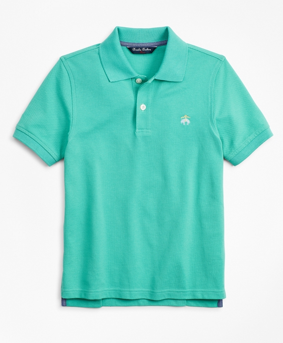 Boys Short-Sleeve Pique Polo Shirt Marine Green