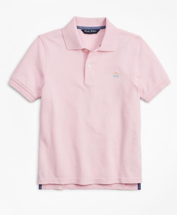 Boys Short-Sleeve Pique Polo Shirt Pink