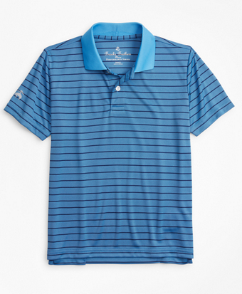 Boys Performance Series Bird's-Eye Stripe Polo Shirt