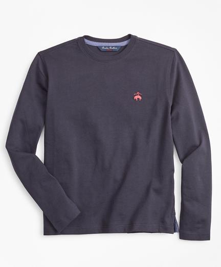 Boys Cotton Long-Sleeve Crewneck T-Shirt