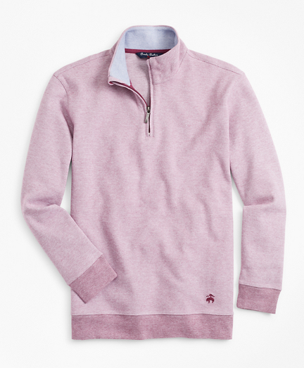 Boys Cotton Bird's-Eye Mockneck