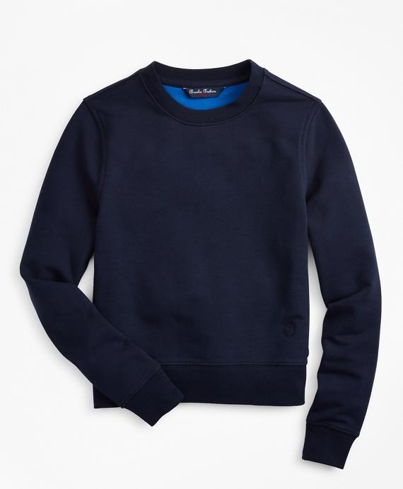 Boys French Terry Crewneck Sweatshirt Navy