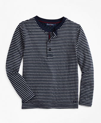Boys Wide Stripe Henley