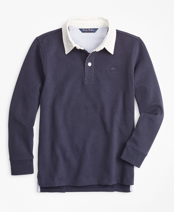 Boys Cotton Rugby Shirt Navy
