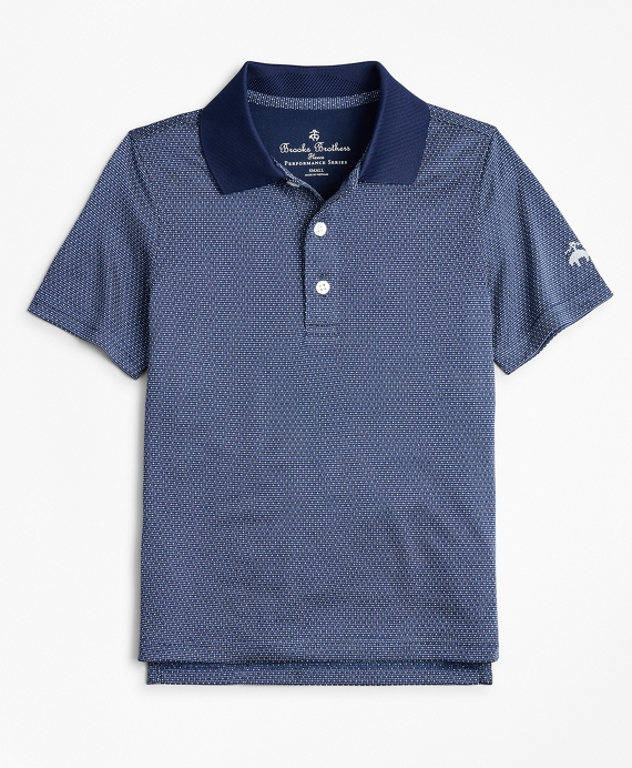 Boys Performance Series Dobby Polo Shirt Navy