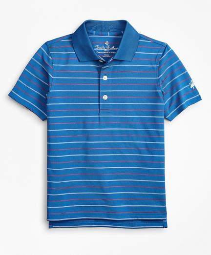 Boys Performance Series Thin Stripe Polo Shirt