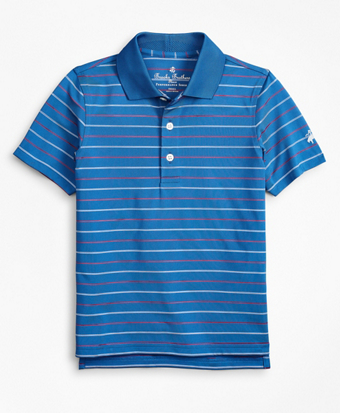 Boys Performance Series Thin Stripe Polo Shirt