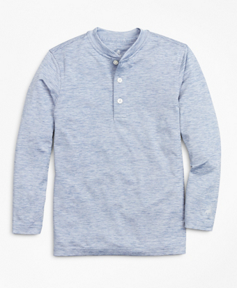 Boys Solid Henley