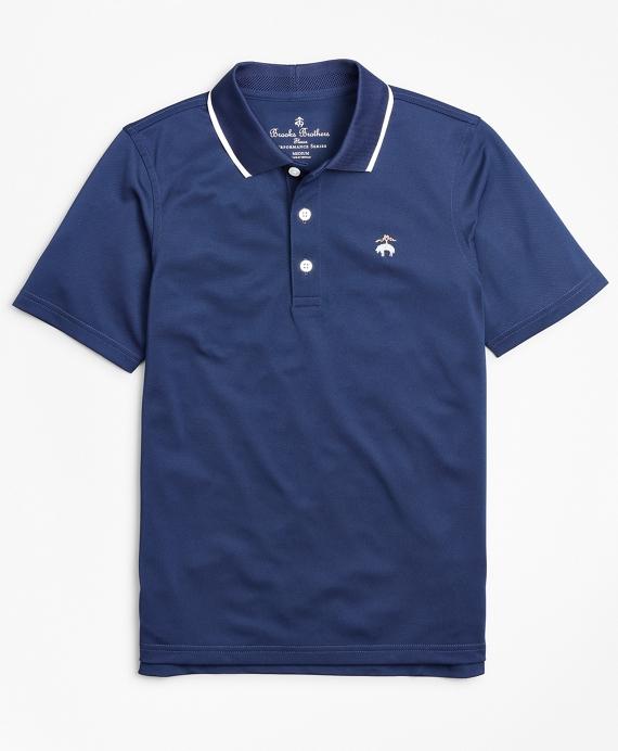 Boys Performance Series Pique Polo Shirt Blue