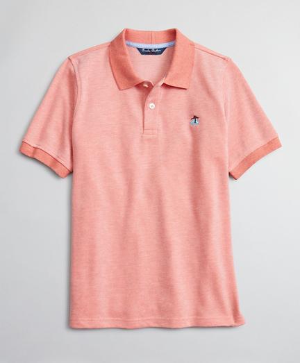Boys Cotton Oxford Pique Polo Shirt