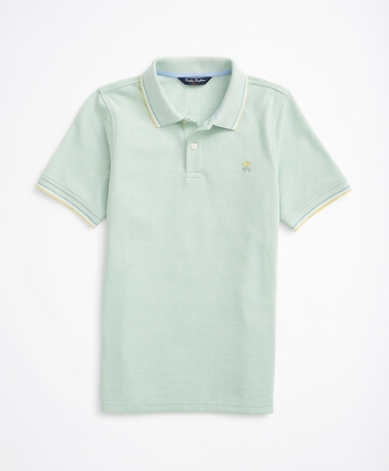 Boys Cotton Oxford Pique Polo Shirt
