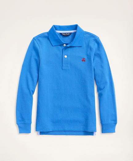 Boys Long-Sleeve Performance Pique Polo Shirt