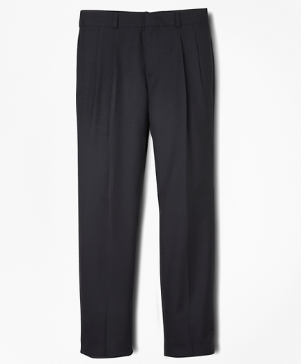 BrooksEase Junior Pleat-Front Dress Trousers