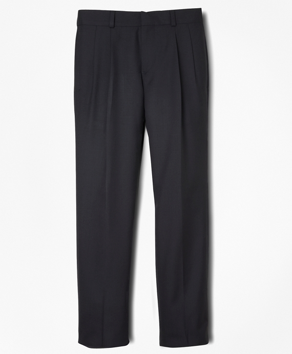 Boys BrooksEase Junior Pleat-Front Suit Pants Navy
