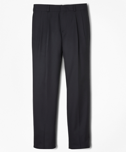 Boys BrooksEase Prep Pleat-Front Dress Trousers