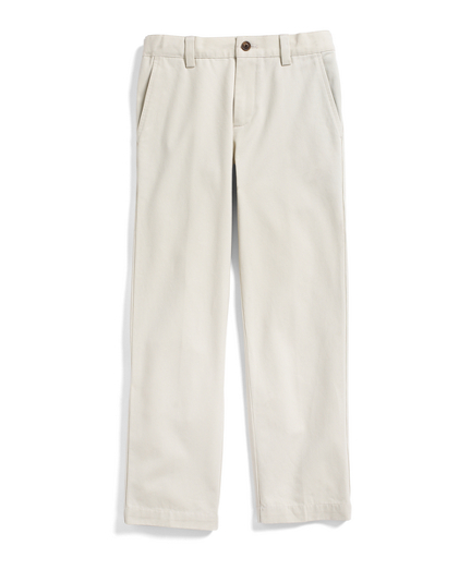 Boys Plain-Front Washed Chinos