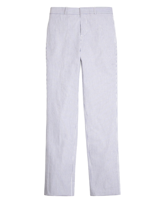 Boys Seersucker Prep Trouser Navy