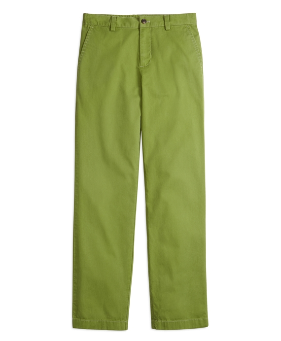Boys Washed Chinos Green