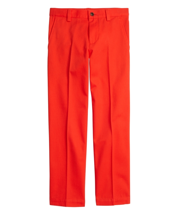 Boys Washed Chinos Bright Red