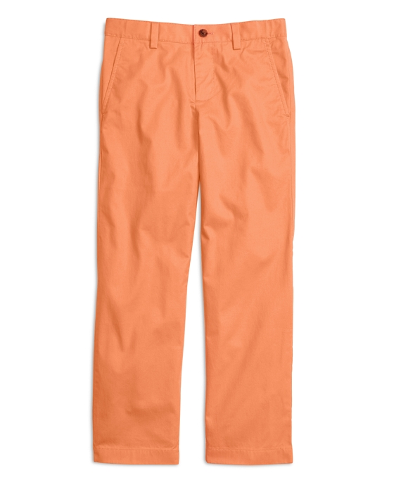 Boys Washed Chinos Orange