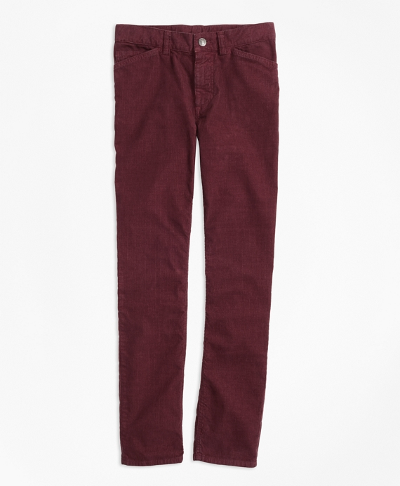 Boys Five-Pocket Corduroys Burgundy
