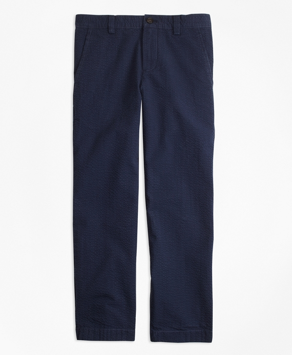 Boys Washed Seersucker Pants Navy