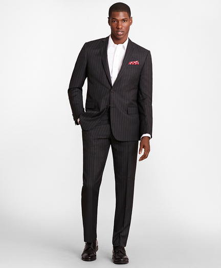 BrooksGate™ Regent-Fit Striped Wool Twill Suit Separates