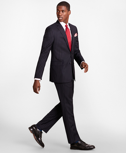 BrooksGate™ Regent-Fit Bead-Stripe Twill Suit Separates