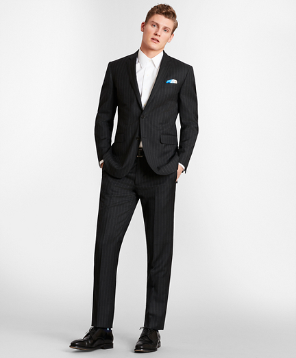 BrooksGate™ Milano-Fit Striped Wool Twill Suit Separates