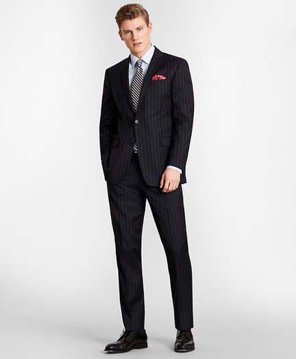 BrooksGate™ Milano-Fit Bead-Stripe Twill Suit Separates