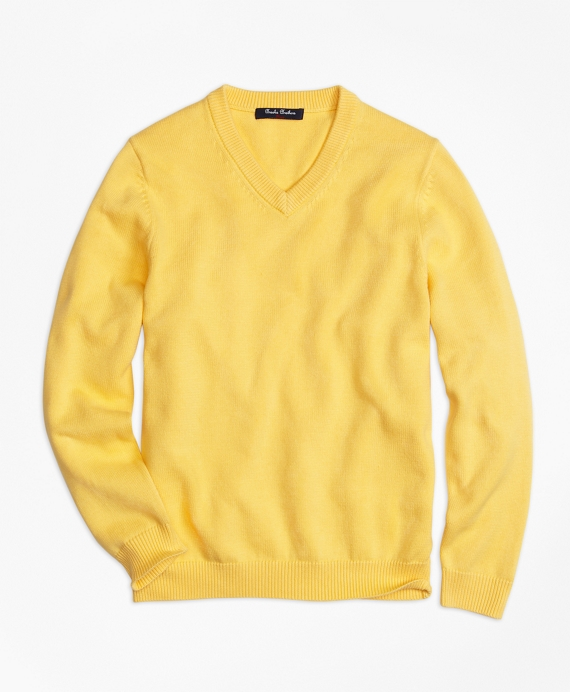 Boys V-Neck Sweater Yellow