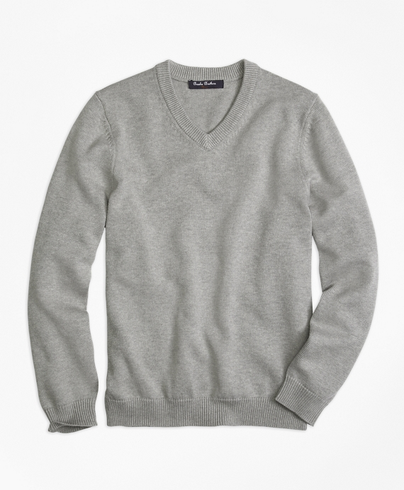 Boys V-Neck Sweater Grey