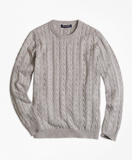 Boys Crewneck Cable Sweater