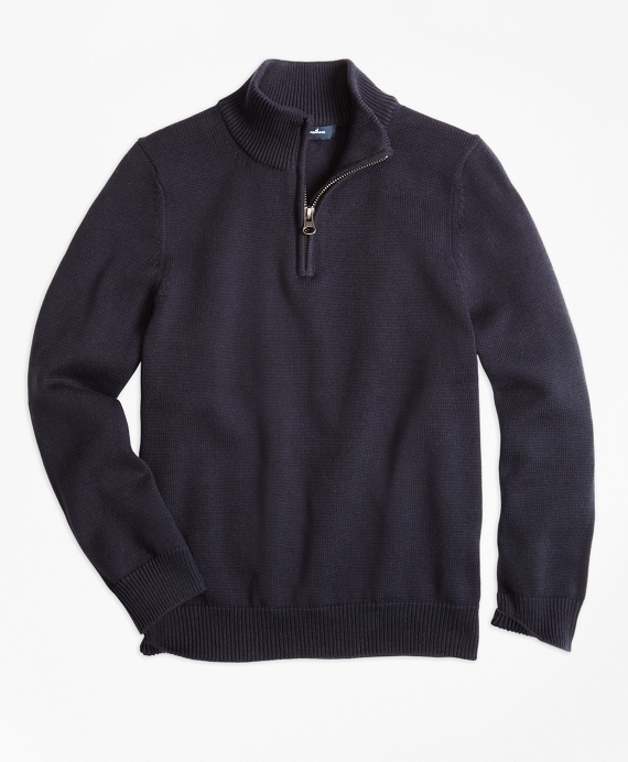 Boys Half-Zip Sweater Navy